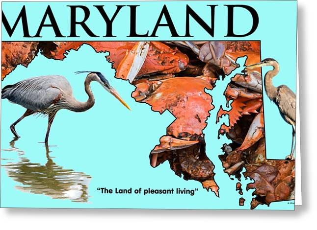 Maryland - The Land Of Pleasant Living Greeting Card