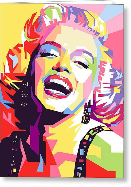 Marylin Monroe Pop Art Greeting Card