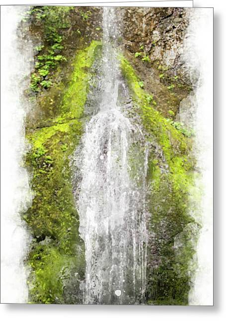 Marymere Falls Wc Greeting Card by Peter J Sucy
