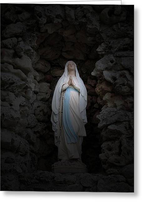 Marys Prayer II Greeting Card