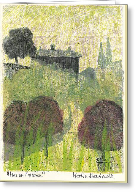 Greeting Card featuring the painting Mas En Provence by Martin Stankewitz