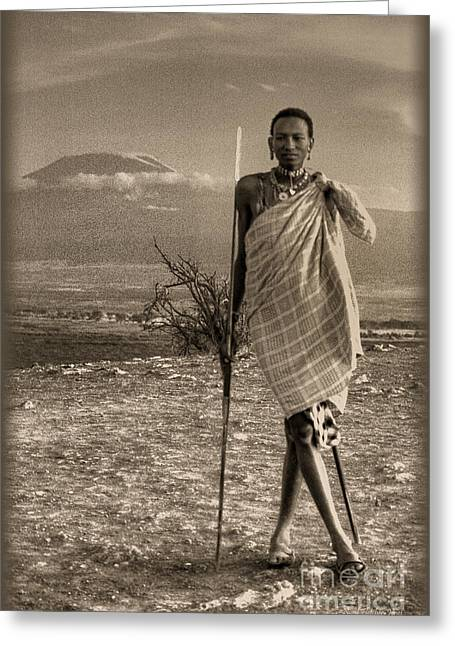 Masai Kilimanjaro Greeting Card