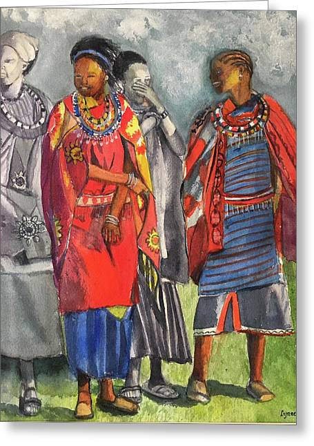 Masai Women Greeting Card