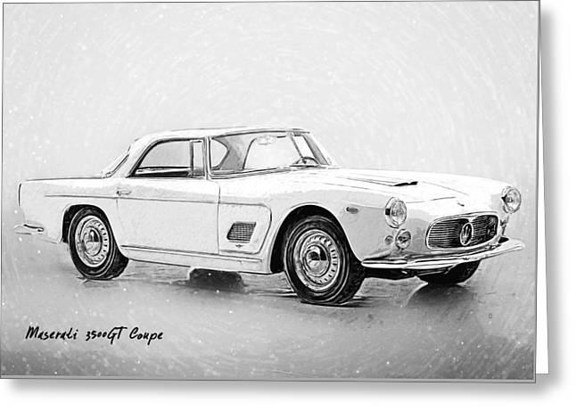 Maserati 3500 Gt Greeting Card