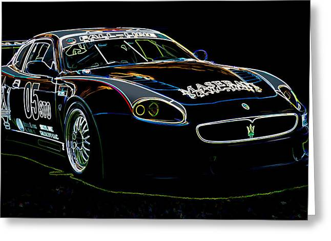Maserati Greeting Cards - Maserati Greeting Card by Sebastian Musial