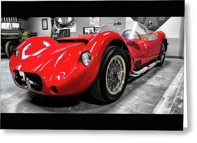 Maserati Tipo 61  Birdcage Sports Racer  Amn5,/47 Greeting Card
