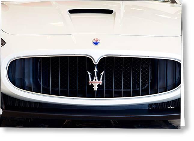 Maserati White Pano 121715 Greeting Card