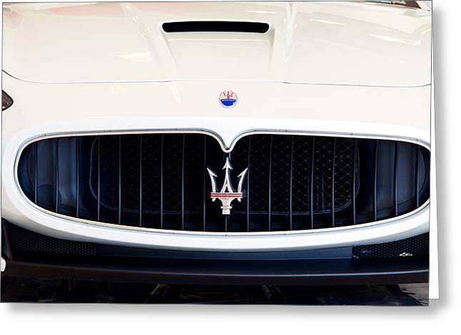 Maserati White Pano 121715 Greeting Card