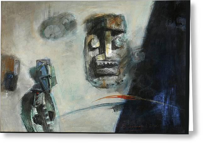 Symbol Mask Painting -02 Greeting Card