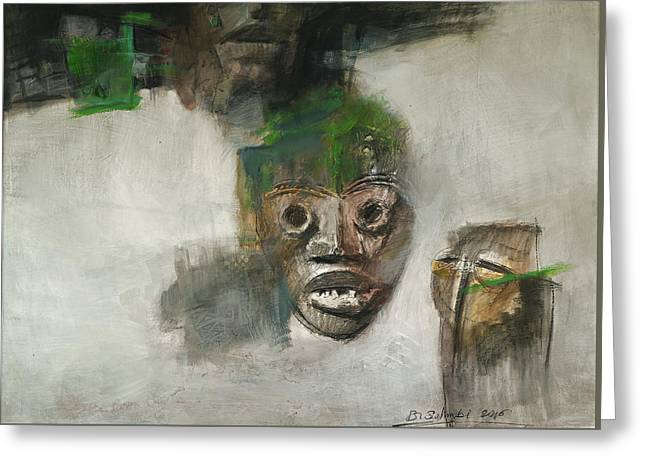 Symbol Mask Painting - 06 Greeting Card