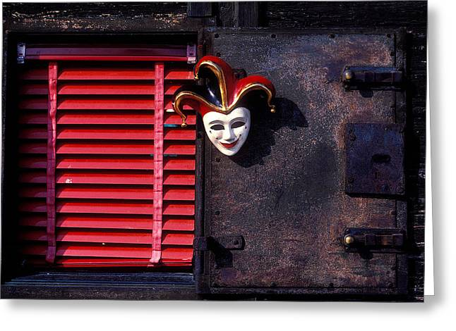 Mask By Window Greeting Card