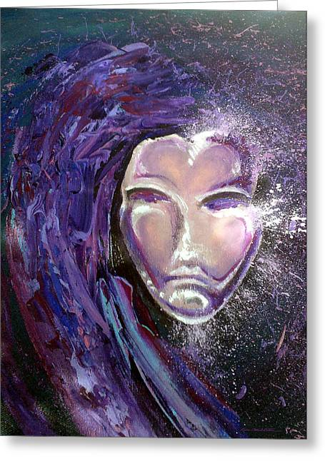 Mardi Gras Greeting Cards - Mask Greeting Card by Kevin Middleton
