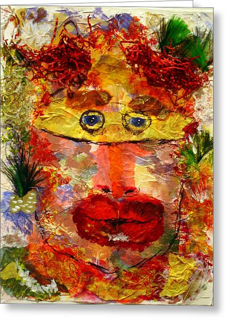 Mask Greeting Card by Lessandra Grimley
