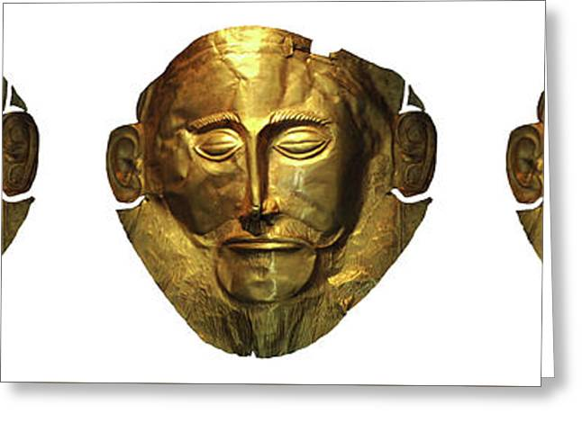 Mask Of Agamemnon 3 Greeting Card