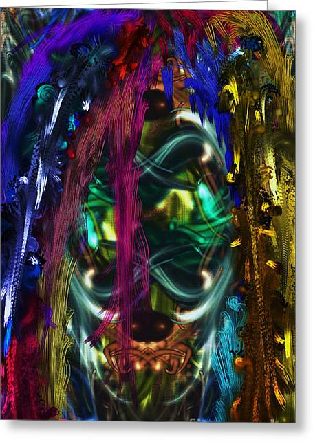 Mask Of The Spirit Guide Greeting Card