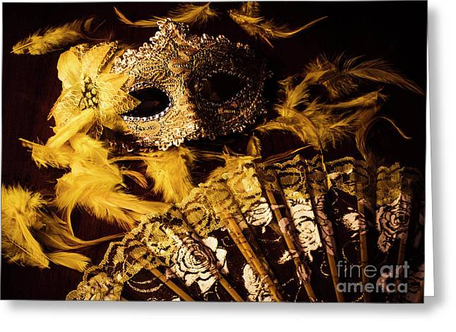 Mask Of Theatre Greeting Card by Jorgo Photography - Wall Art Gallery