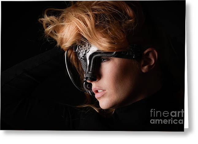 Masked Beauty Greeting Card by Jt PhotoDesign