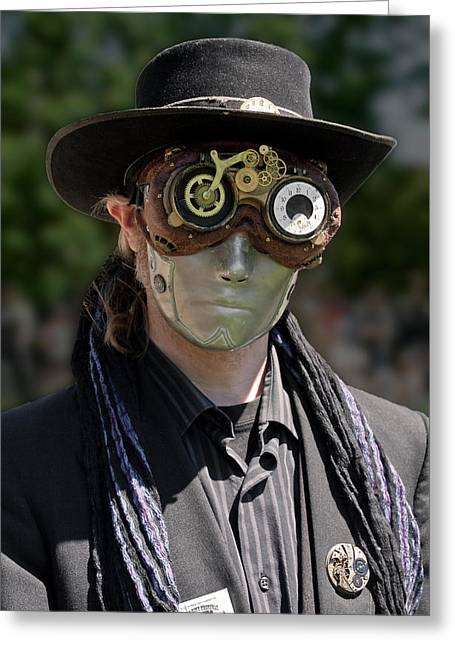 Masked Man - Steampunk Greeting Card