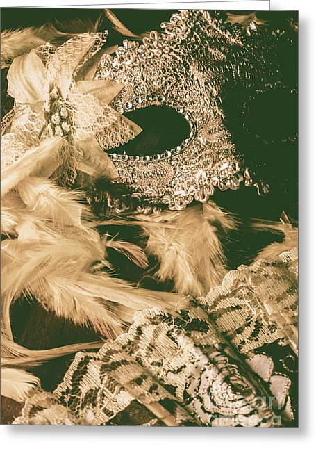 Masking A Playwright Greeting Card by Jorgo Photography - Wall Art Gallery
