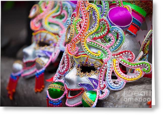 Masks Greeting Card