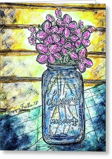 Mason Jar Bouquet Greeting Card