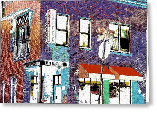 Mason Street And Cherry Greeting Card by Jeff Gibford