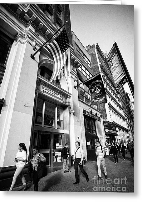 Masonic Building Grand Lodge Of Free And Accepted Masons Of The State Of New York And Masonic Librar Greeting Card