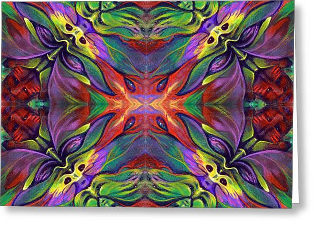 Masqparade Tapestry 7e Greeting Card by Ricardo Chavez-Mendez