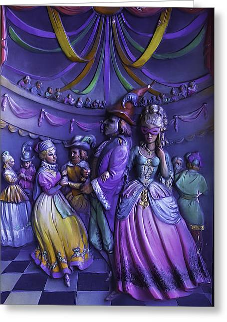 Masquerade Ball Mari Gras Greeting Card by Garry Gay