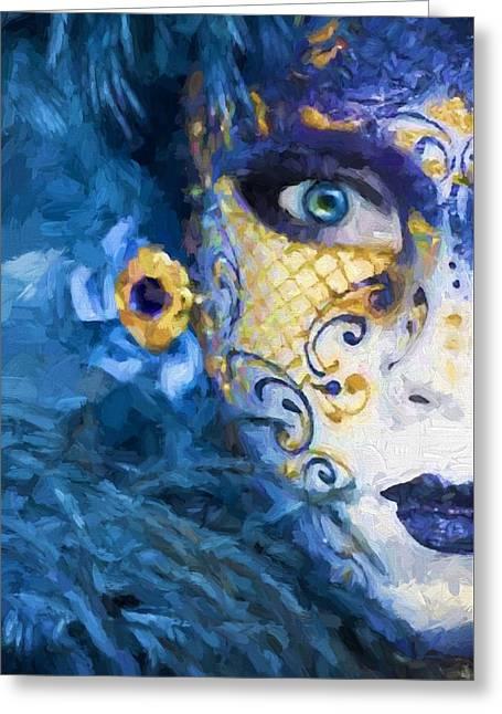 Masquerade I Greeting Card