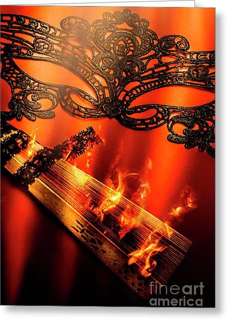 Masquerade Of Passion Greeting Card