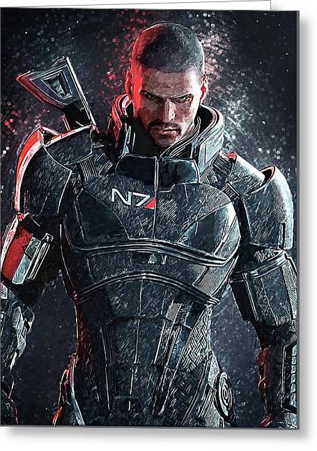 Mass Effect Greeting Card