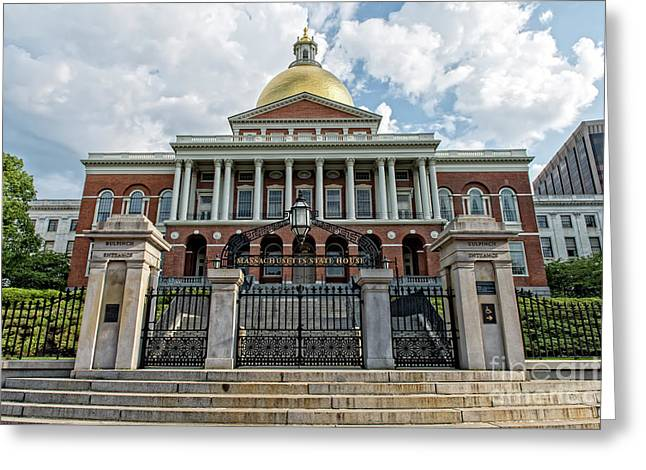 Massachusetts State House Greeting Card by Charles Dobbs