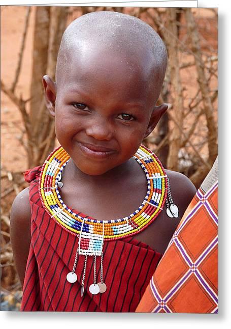 Massai Child Greeting Card