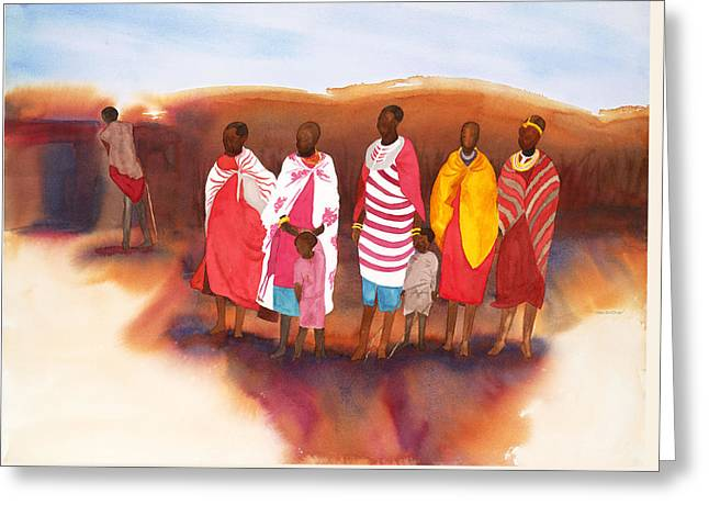 Massai Mommas Greeting Card