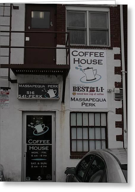 Massapequa Perk Home Of Jack Rice Coffee Greeting Card