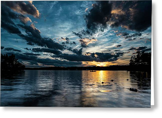 Masscupic Lake Sunset Greeting Card