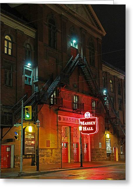 Massey Hall  Greeting Card