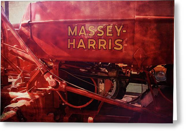 Massey Harris Vintage Tractor Greeting Card by Ann Powell