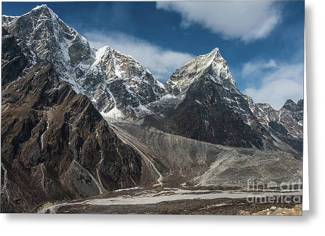 Greeting Card featuring the photograph Massive Tabuche Peak Nepal by Mike Reid
