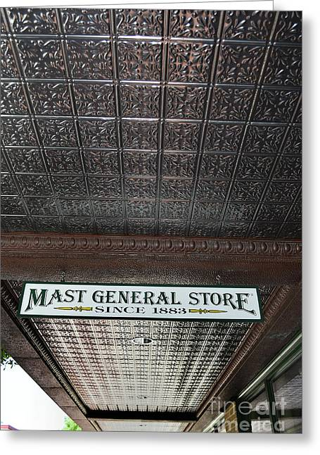 Greeting Card featuring the photograph Mast General Store II by Skip Willits