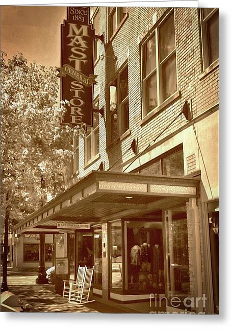 Greeting Card featuring the photograph Mast General Store by Skip Willits
