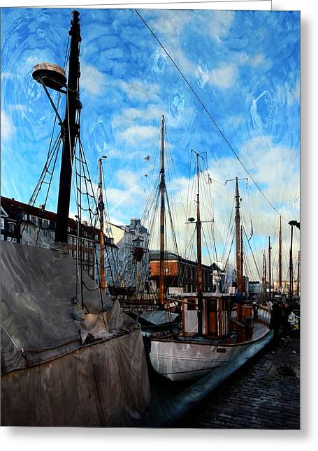 Mast Impressions Copehagen Greeting Card by Dorothy Berry-Lound
