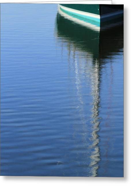 Mast Reflections Greeting Card by Karol Livote