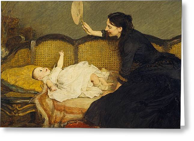 Master Baby  Greeting Card by William Quiller Orchardson