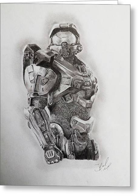 Master Chief Greeting Card by Joshua Lord