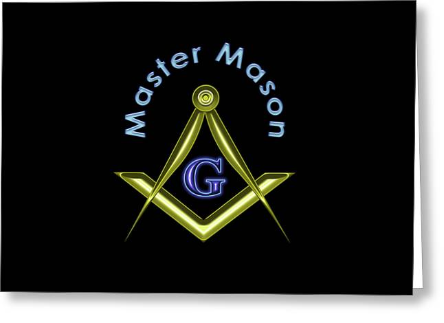 Master Mason In Black Greeting Card