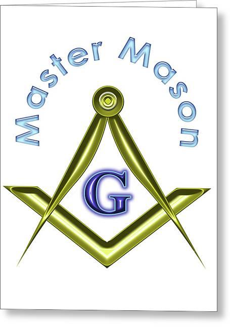 Master Mason In White Greeting Card