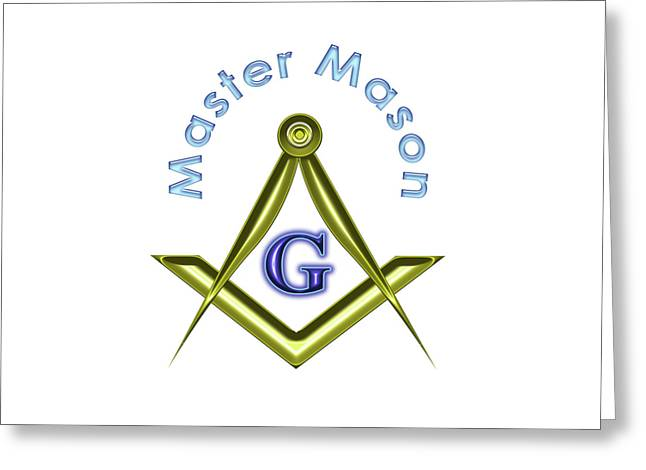 Master Mason In White Greeting Card