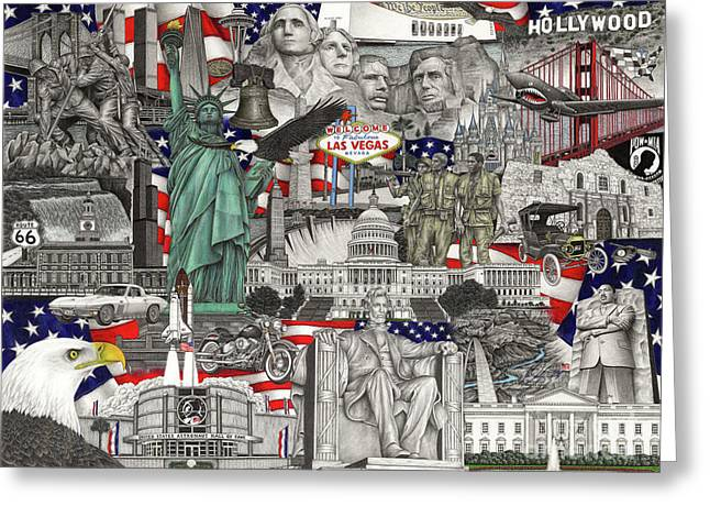 Masterpiece America Greeting Card